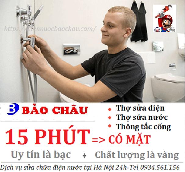 Dịch vụ sửa chữa điện nước ở Chùa Bộc uy tín nhất gọi Bảo Châu