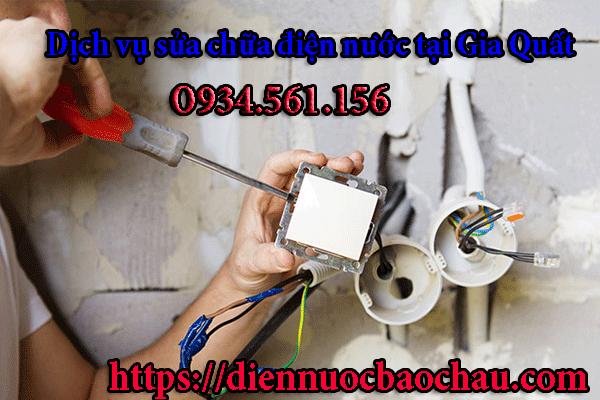 Thợ sửa điện tại khu vực Gia Quất